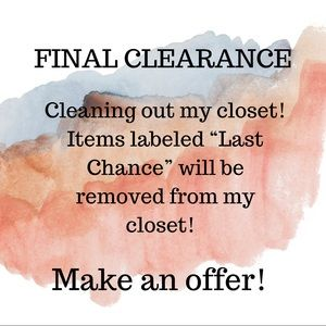 Final Clearance / last chance items
